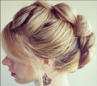 Gorgeous french braid updo!