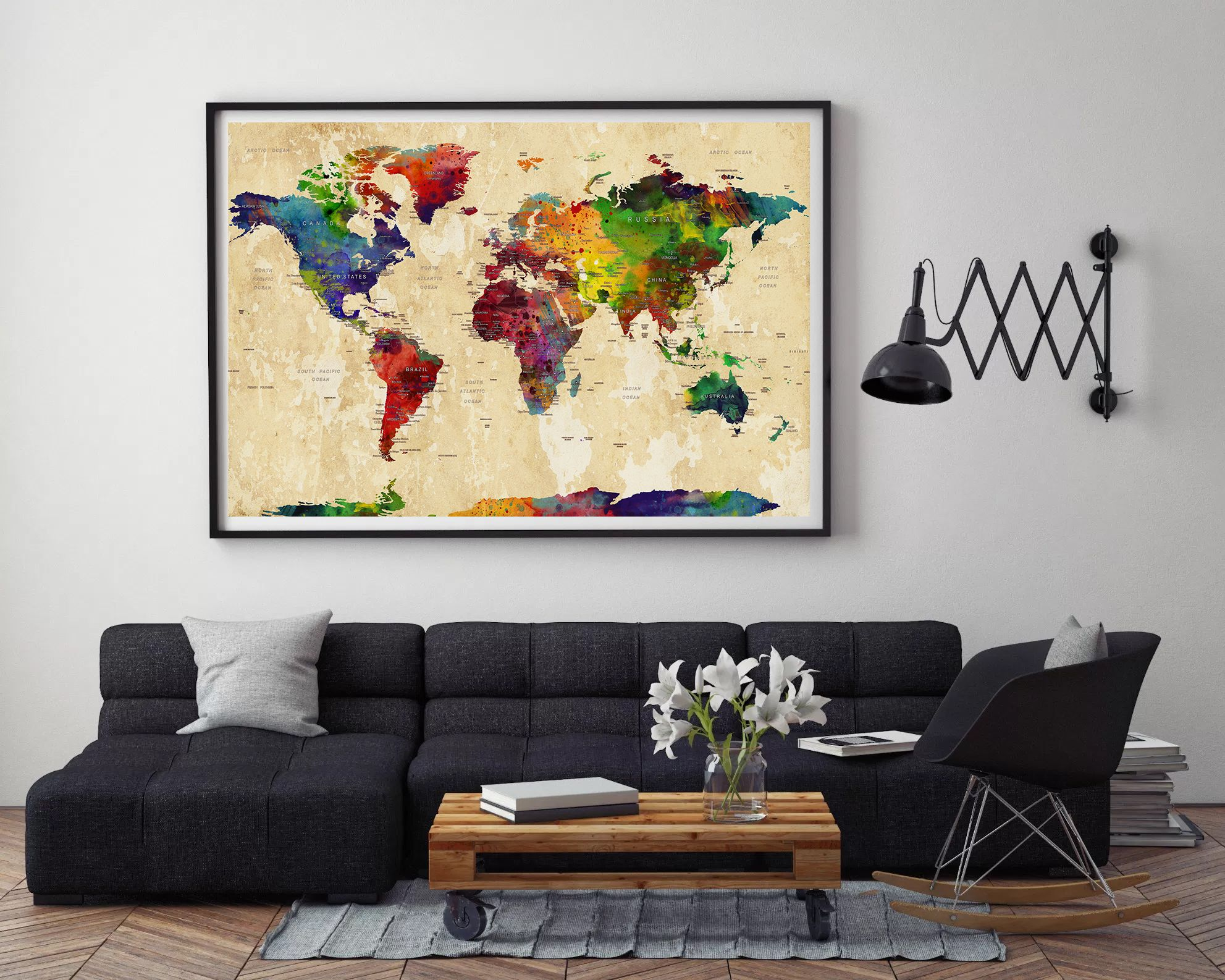 World map large world map watercolor world map world map art world map large world map watercolor world map world map art wall art world map poster home decor map of the world art travel l25 gumiabroncs Images