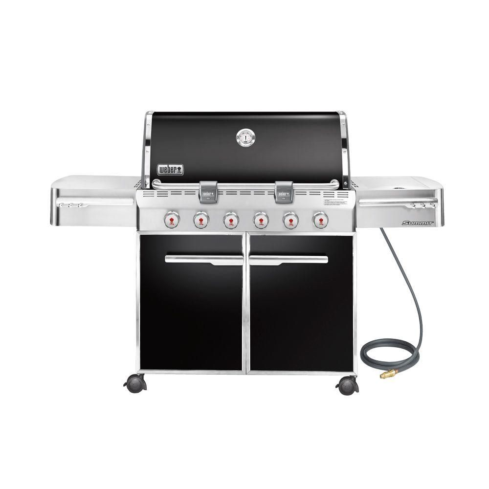 Weber Summit E 620 6 Burner Natural Gas Grill In Black Natural Gas Grill Gas Grill Outdoor Cooking Grills