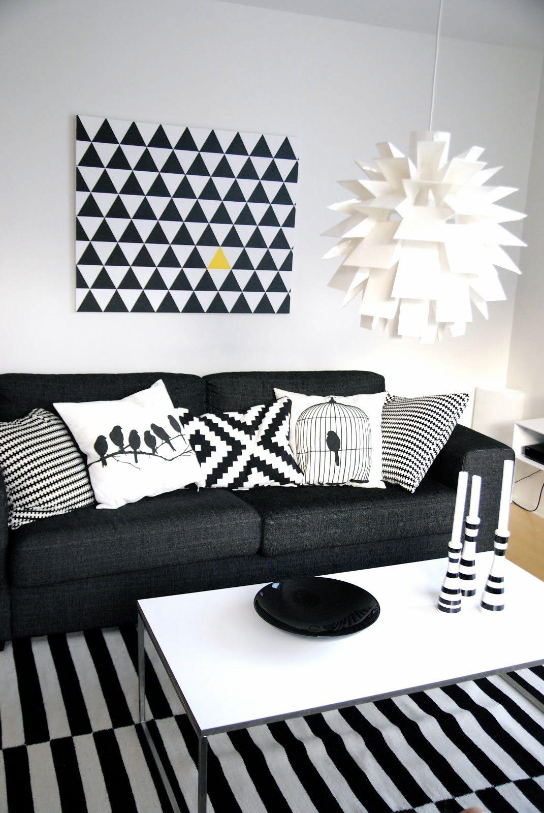 47 idées de déco en noir et blanc à faire soi-même | Idées de déco ... - Tableau A Faire Soi Meme