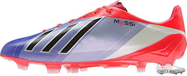 7cd1ed39a Leo Messi adidas F50 adiZero - Turbo   Blast Purple   White