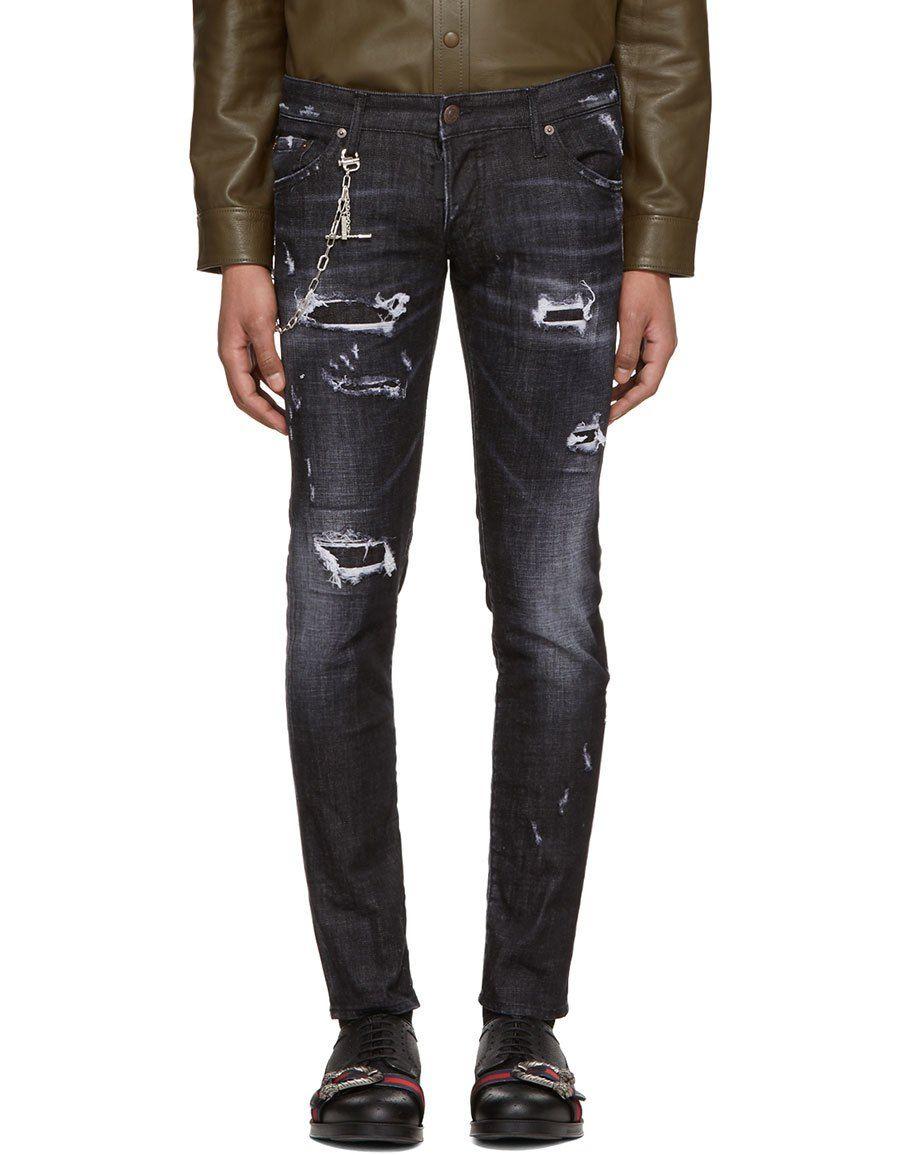 b3abdbe1b90df DSQUARED2 Black Regular Clement Jeans · VERGLE