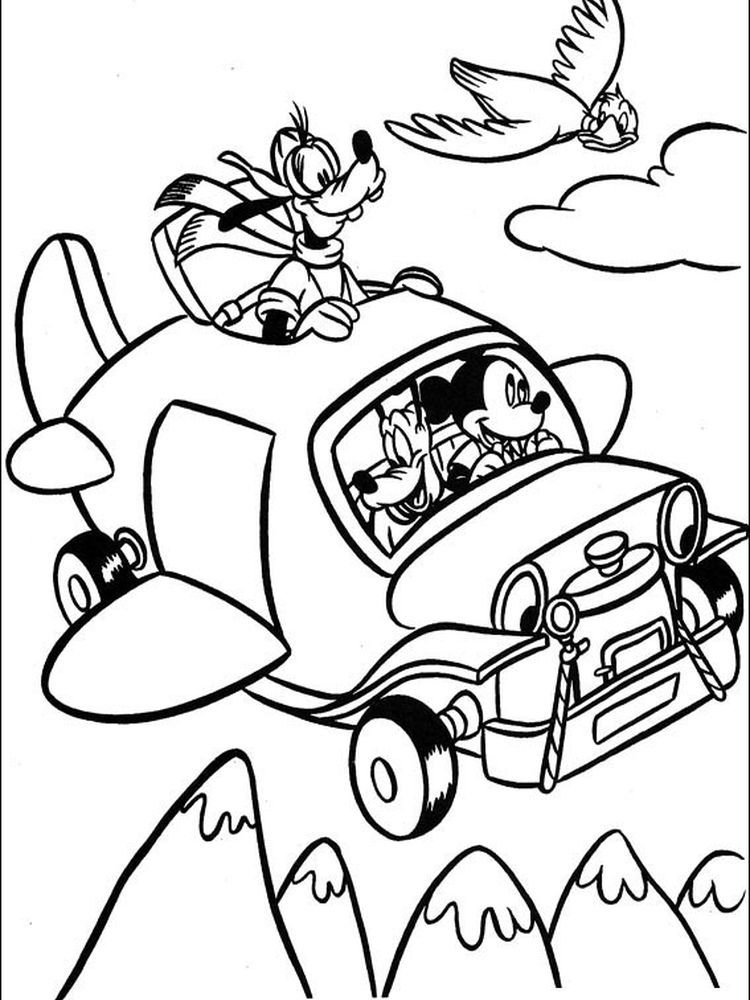 Mickey Mouse Coloring Pages Printable Free Coloring