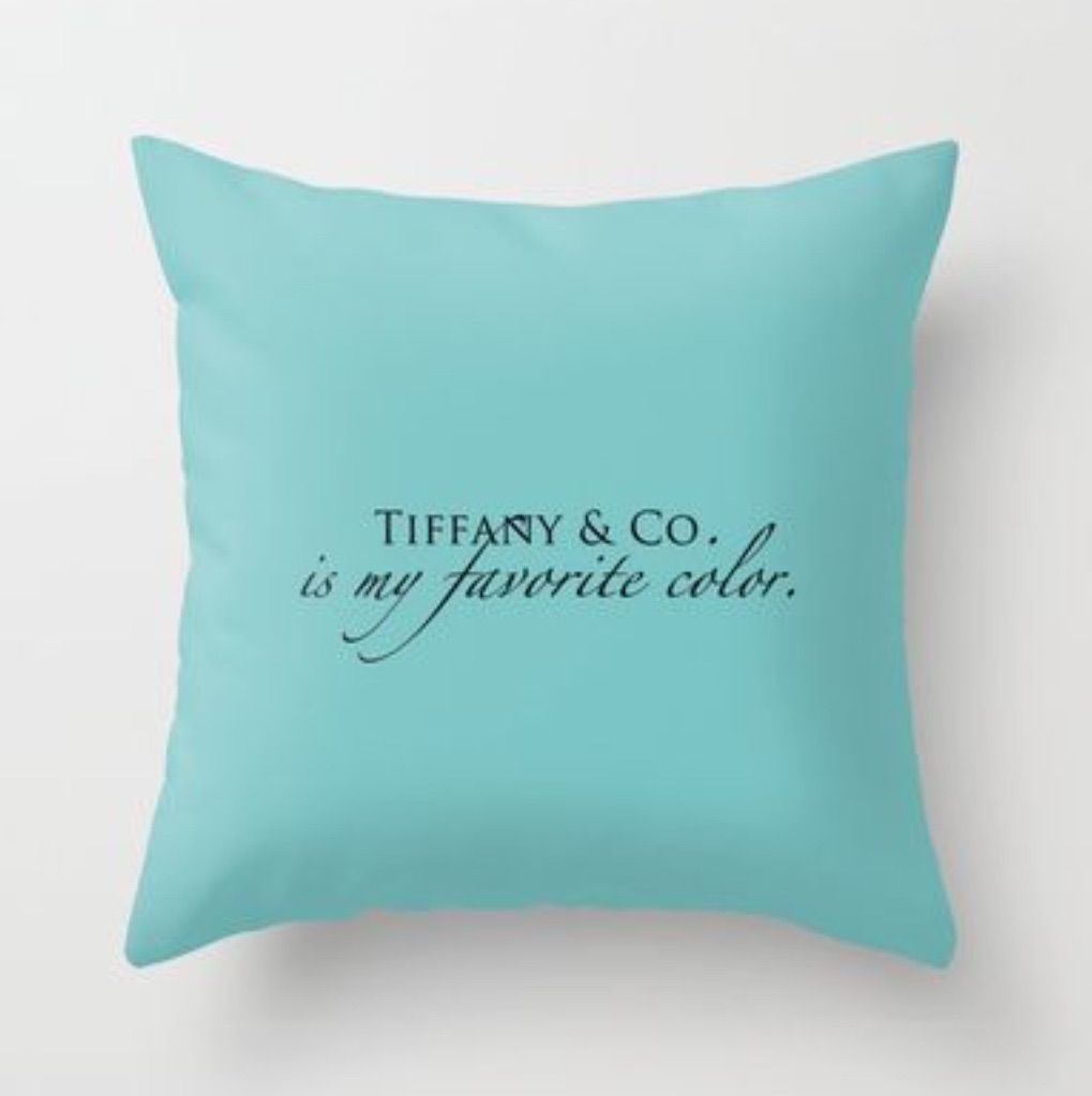 faa3f1265a Tiffany & Co. pillow   Fun stuff!   Tiffany room, Tiffany blue, Tiffany