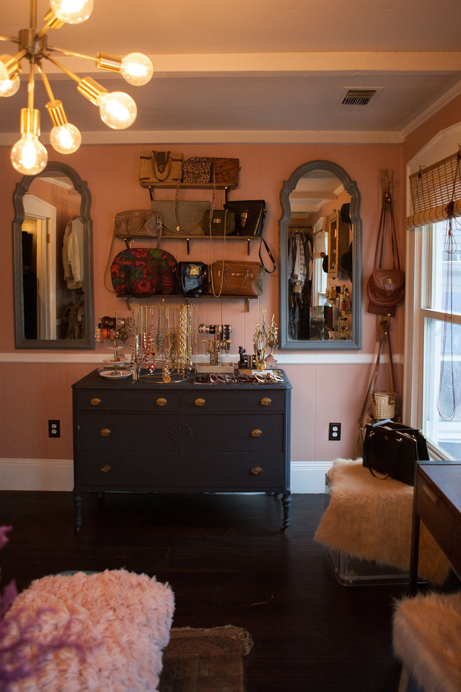 Dressing Room Before + After Vintage dressing rooms