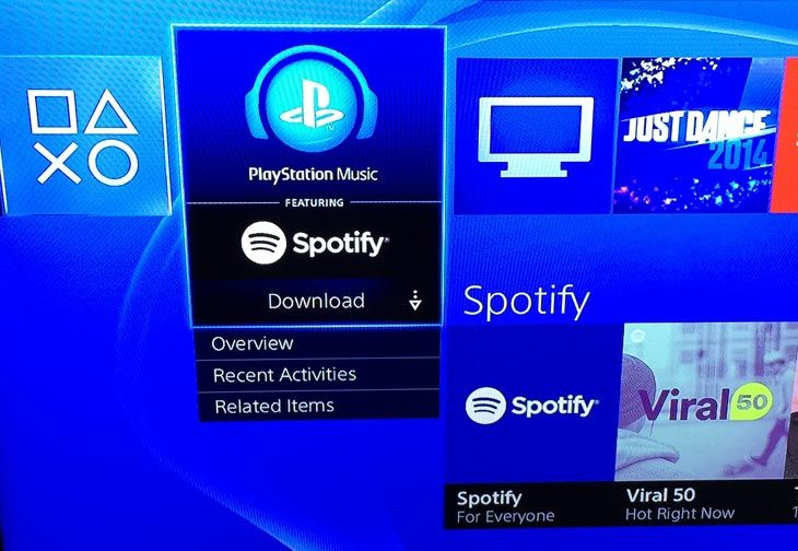 Would you prefer not to see the Spotify app on your PS4 and if so