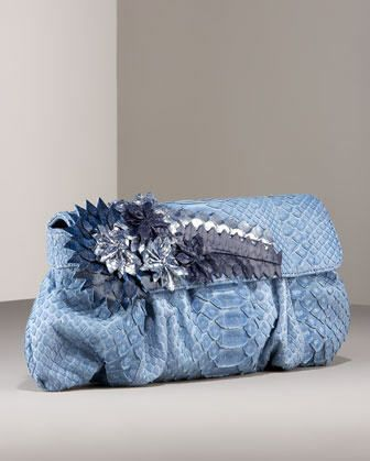 47c3d94c6a carlos-falchi-floral-applique-phyton-designer-clutch-evening-bag-soft-blue-1