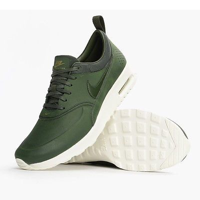 Nike Air Max Thea Premium Womens 616723 304 Carbon Green Running Shoes Size 10