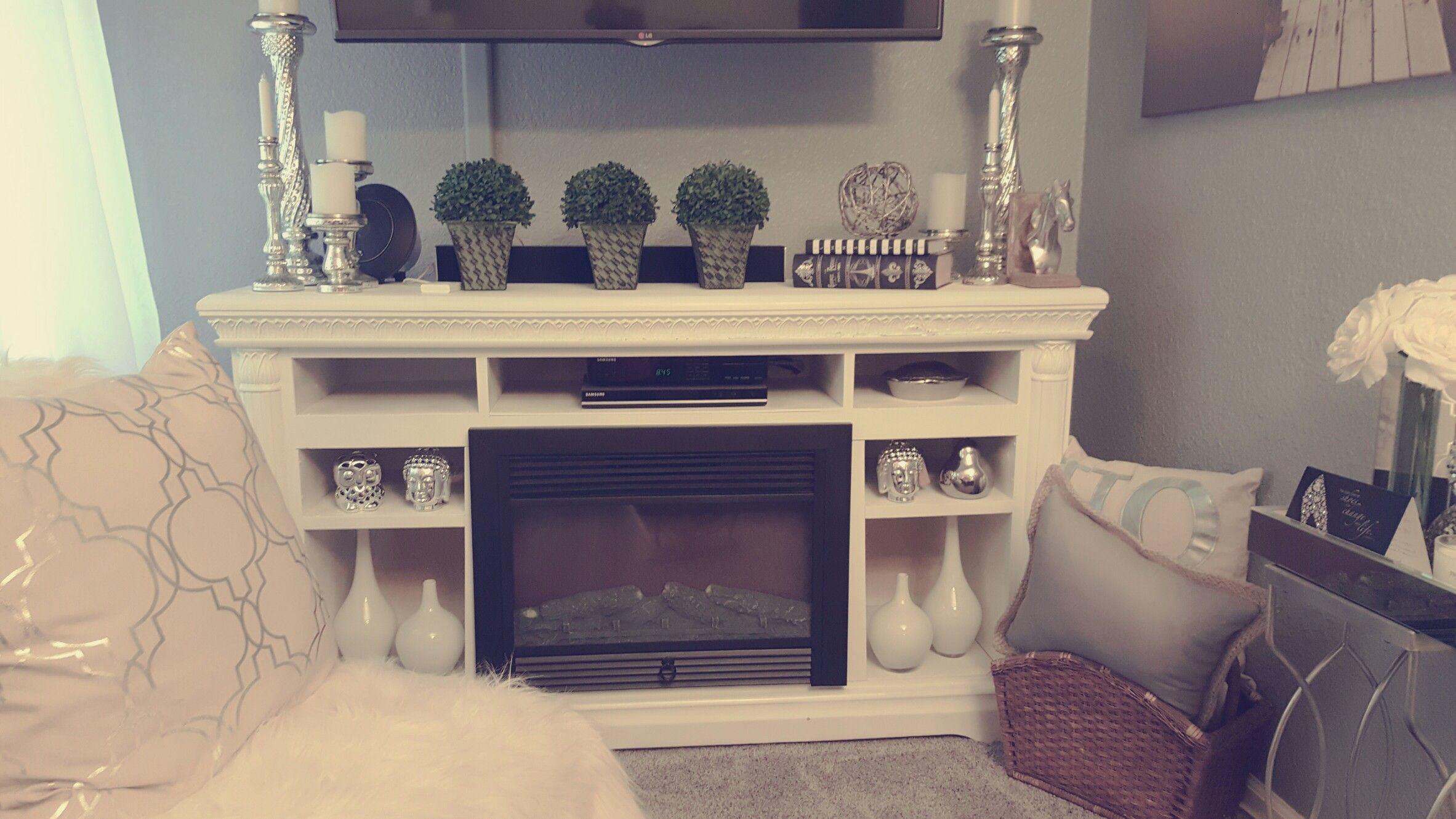 Remodel Old Dresser Into A Tv Stand Fireplace