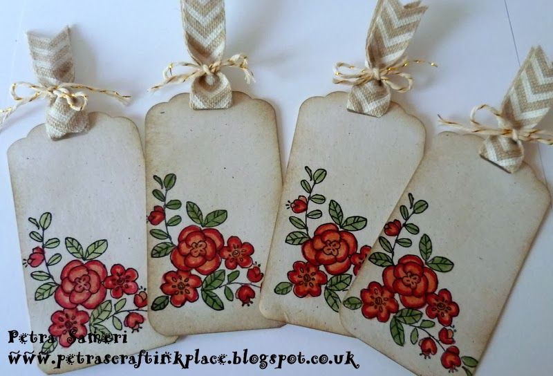 Petra's CraftInk Place, So Very Grateful stamp set & Scalloped Tag Topper Punch