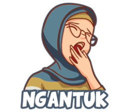 New Funny Emoji  Happy Muslim Woman (Volume 4) - Stiker LINE | LINE STORE 10