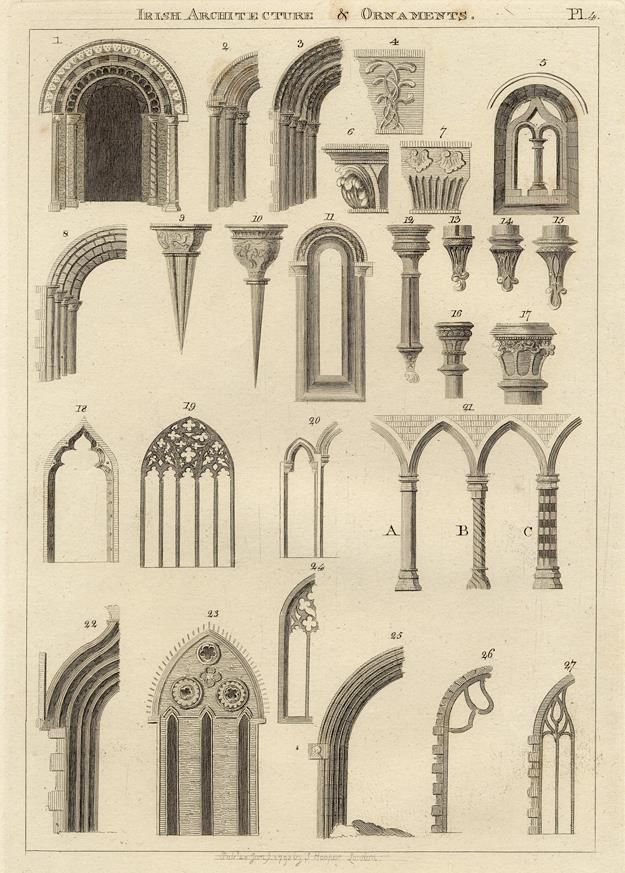 Irish Architecture And Ornaments Windows Columns Capitals 1786