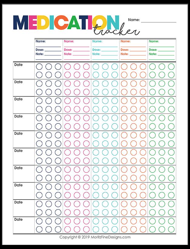 Prescription Medication Tracker Medication Chart Printable Medication Tracker Medical Prescription