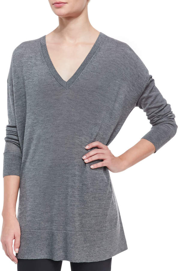 6104387240868 Amherst Long-Sleeve Oversized V-Neck Sweater | Products | Sweaters ...