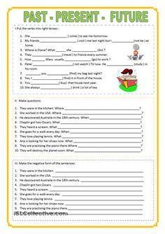 Mixture of tenses worksheet - Free ESL printable worksheets made by teachers