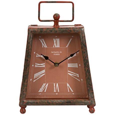 Benton Retro Brick Red Wrought Iron Clock - #2M823   LampsPlus.com