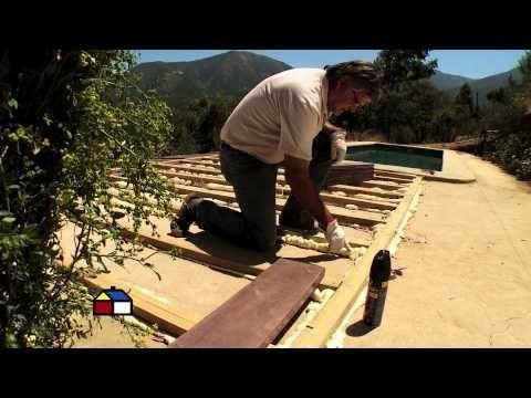 ¿Cómo construir un deck con tablones de hormigón? - YouTube