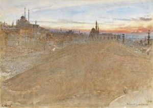 Albert Goodwin, 'Cairo',    Julia has a wonderful eye for exquisite watercolours