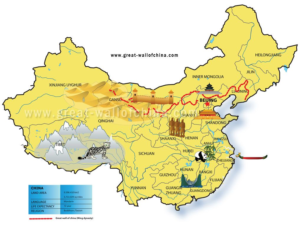 Map of china for kids bigg 1024768 china pinterest china map of china for kids bigg 1024 great wall gumiabroncs Image collections