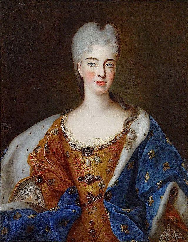 ca. 1700 Élisabeth Charlotte d'Orléans, Mademoiselle de Chartres, Duchess of Lorraine in by Pierre Gobert