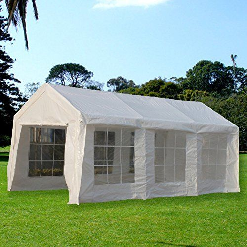 Carports Snail 10 X 20 Ft Heavy Duty Domain Domain Carport Car Canopy Shelter Enclosed Party Tent With Windows And S Car Canopy Canopy Shelter Carport Canopy