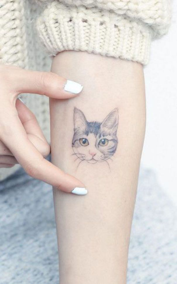 60 Adorable Cat Tattoo Ideas