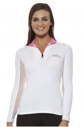 Kastel Denmark Charlotte Zip Pink Trim Long-sleeve