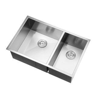 Ruvati Rvh7515 Undermount 16 Gauge 32 Inch Double Bowl Kitchen