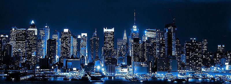 Night View Of The Bustling City New York Iphone Wallpaper Night City City