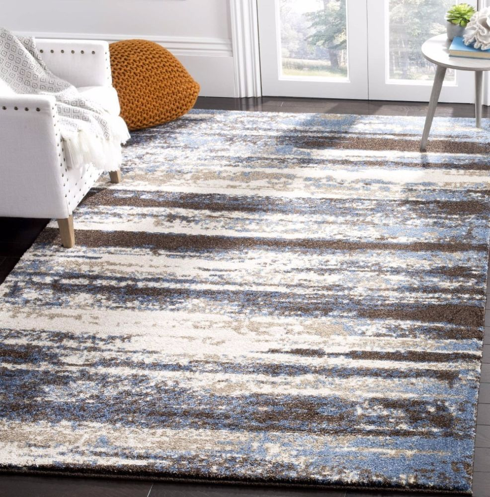safavieh modern abstract cream blue 5 x 8 distressed rug home indoor decor homedecor indoor rug carpet abstract distressed