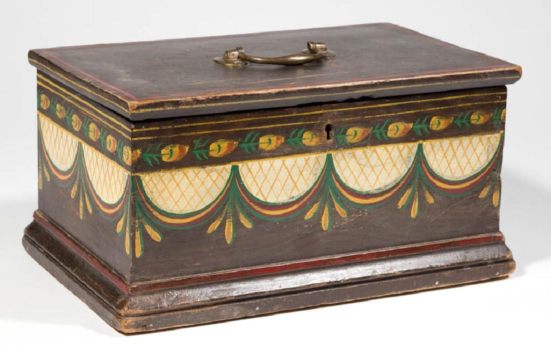 Decorative Document Boxes 19Th Century Neoclassical Document Box Pnt 14W 176H  Period