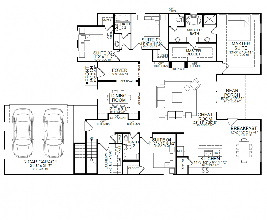 The Melrose Is An Absolutely Stunning One Story Home With An Optional Bonus Suite Upstairs For Extra Space Flo Level Homes One Story Homes New Homes For Sale