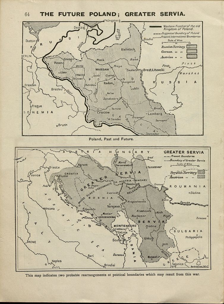 The future poland and serbia from map book of the world wide war the future poland and serbia from map book of the world wide war gumiabroncs Images