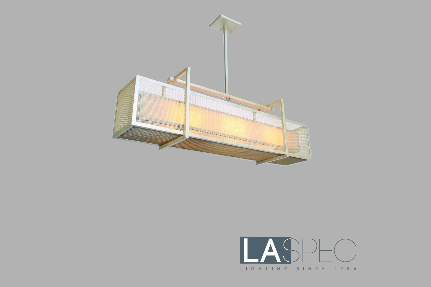 Metal And Frame Geometrical Custom Lighting Design Pendant