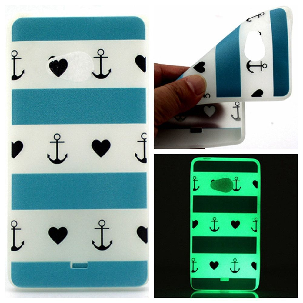 Fashion Luminous Case Slim Fluorescence Soft TPU Phone Covers for Microsoft Nokia Lumia 540 Glow in the Dark Silicone Back Skin
