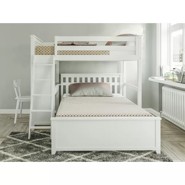 Geyer Twin Over Full L Bunk Bed Bunk Beds Bunk Beds With Stairs Bunk Bed King