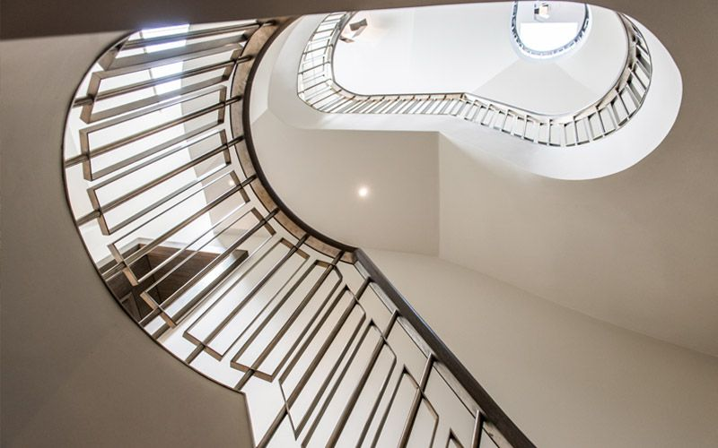 Main Helical Staircase To 54 Bedford Gardens, Notting Hill, London, UK    Client