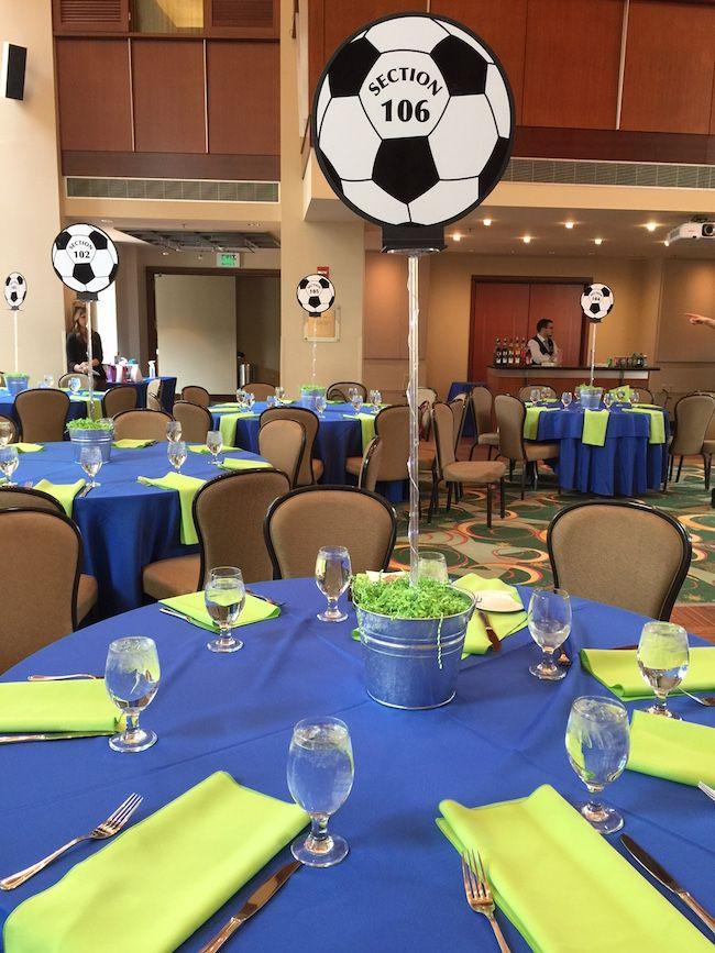 Soccer Banquet Centerpieces : Soccer ball centerpieces themed bat mitzvah party
