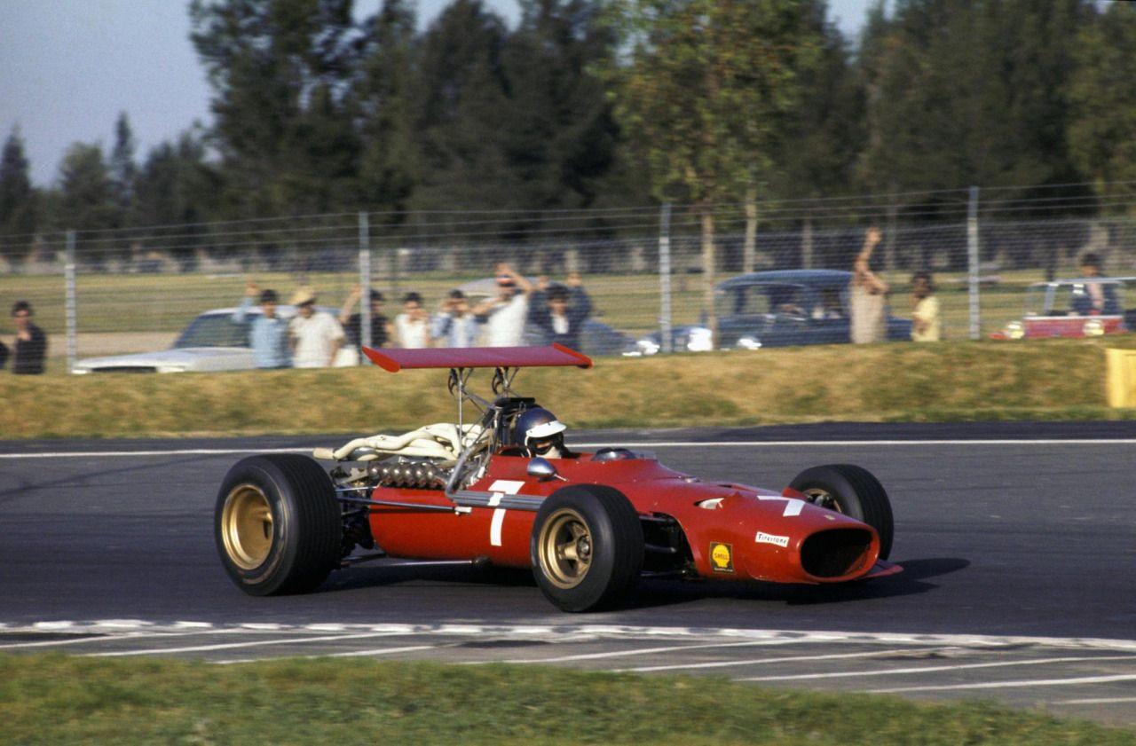 Jacky Ickx (Ferrari) Grand Prix du Mexique - Mexico City - 1968 ...