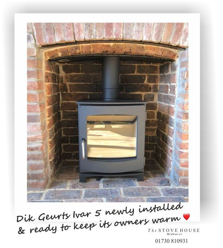 Perfect Size This Dik Ivar 5 Fits Beautifully Into This Original Fireplace Opening Clean Simple And Very Stove Installation Inset Stoves Wood Burning Stove