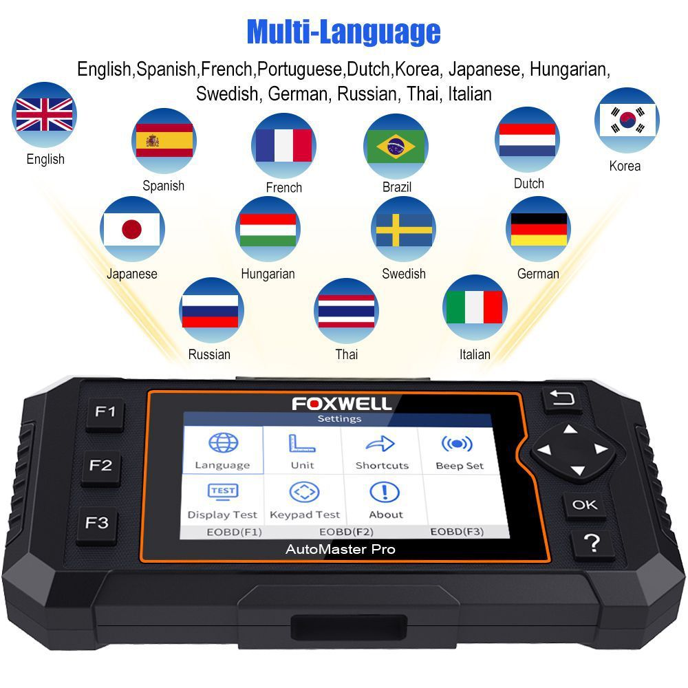 Foxwell NT624 Elite Auto Full System EPB Oil Reset OBD2 Diagnostic Scanner Tool
