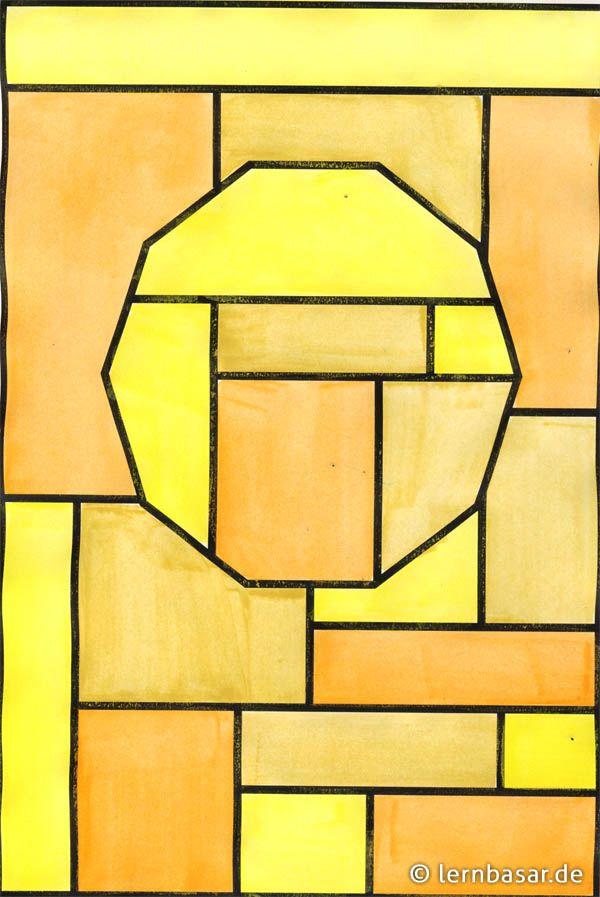geometrische formen  ton in ton  beispiel  geometrische