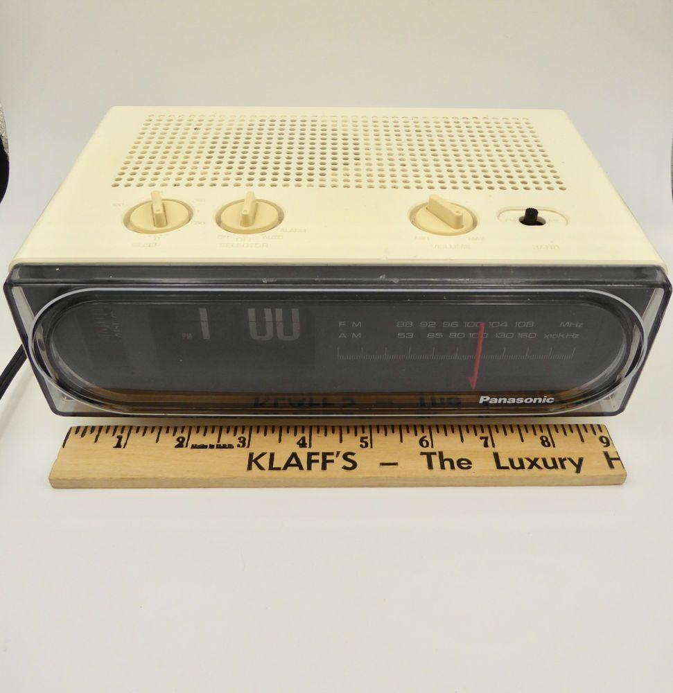 Vtg Panasonic Rc 6010 Flip Clock Alarm Am Fm Radio White Cream Plastic 1980 S Collectibles Clocks Modern 1970 Now Ebay Vintage Radio Fm Radio Panasonic