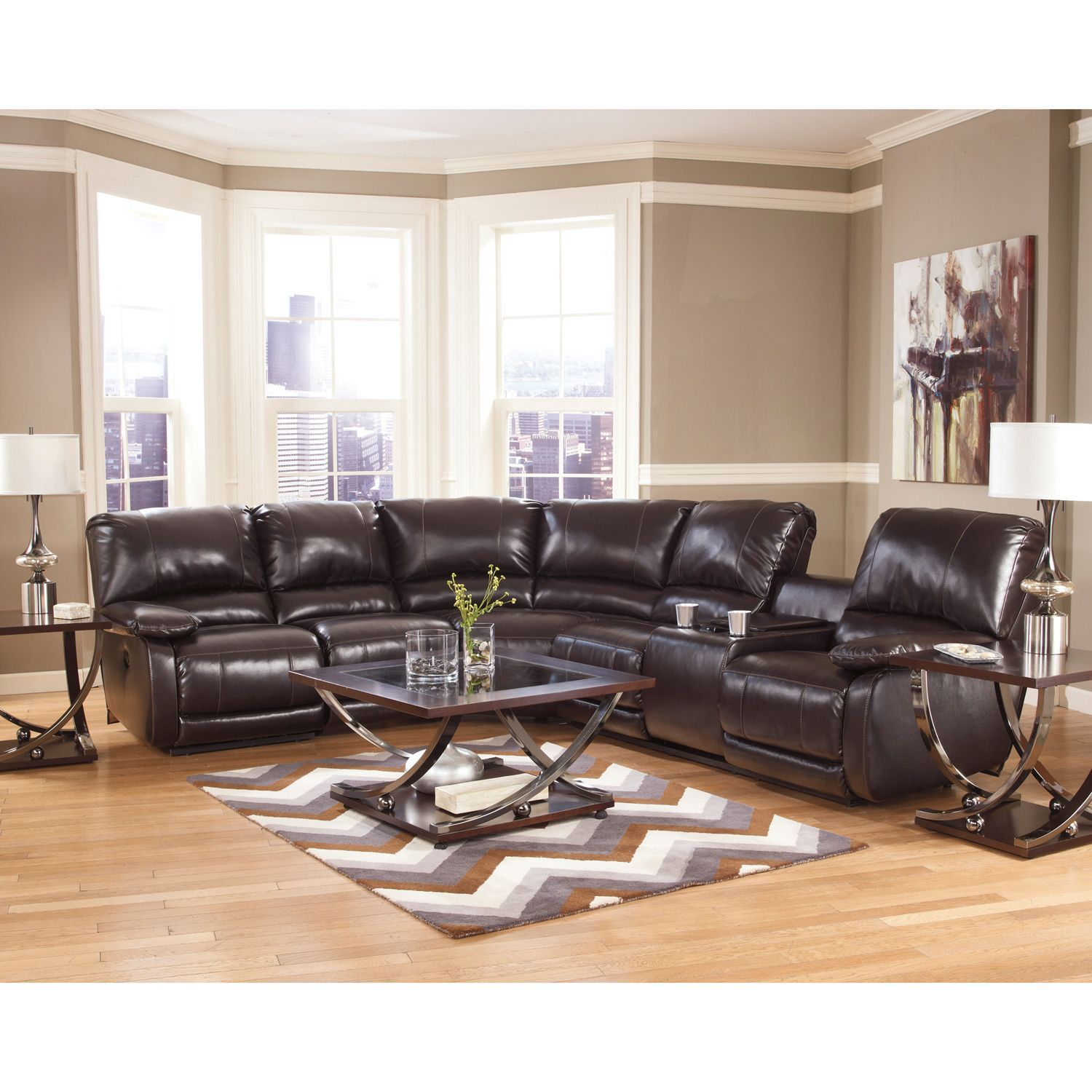 The capote sectional features dense foam padding and a design to give your home decor a boost of fashion forward style designed by ashley furniture