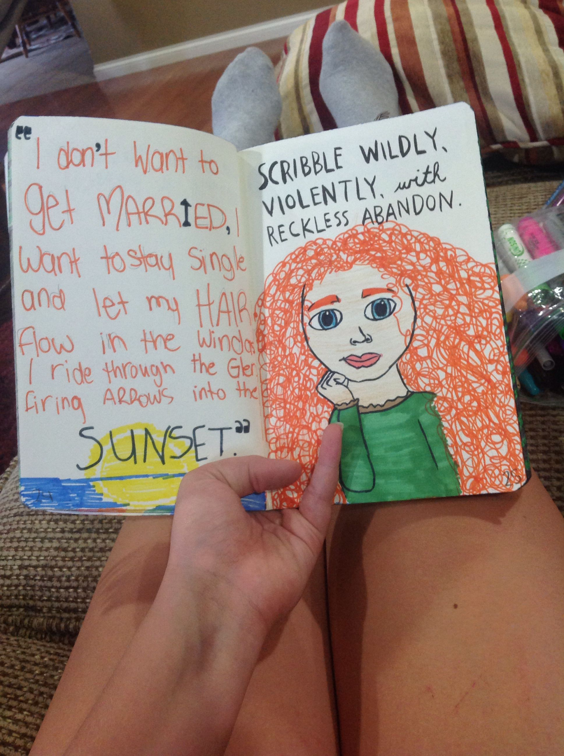 "My wreck this journal ""scribble wildly, violently, with reckless abandon."""
