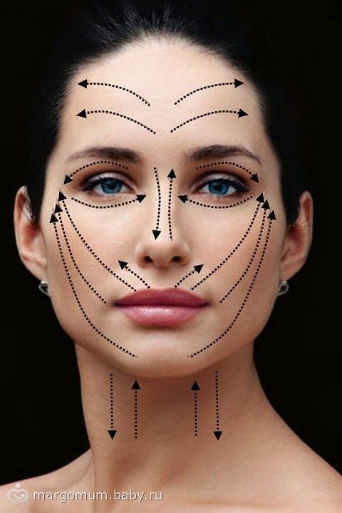 Как наносить крем на лицо   Макияж, Косметика и Массаж