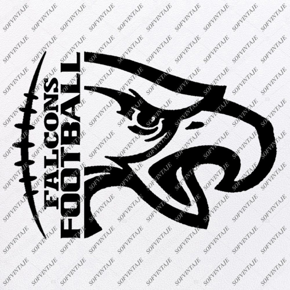 Falcons Football Svg File Football Svg Football Team Mascot Falcon Svg Football Clipart Svg For Cricut For Silhouette Svg Eps Pdf Dxf Png In 2020 Silhouette Svg Falcons Football Team Mascots