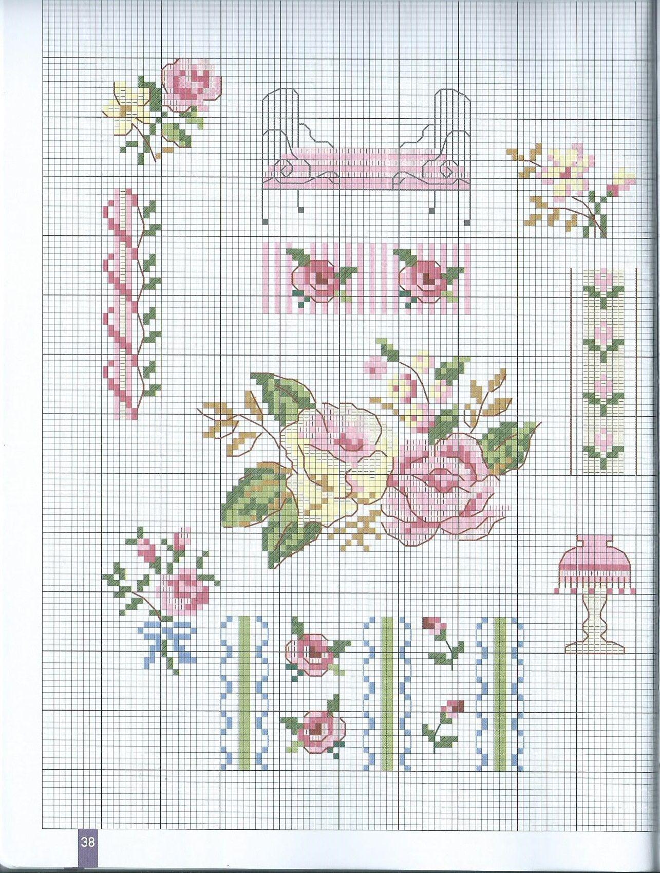 MANGO DMC Nostalgia | CS flowers | Pinterest | Punto de cruz flores ...