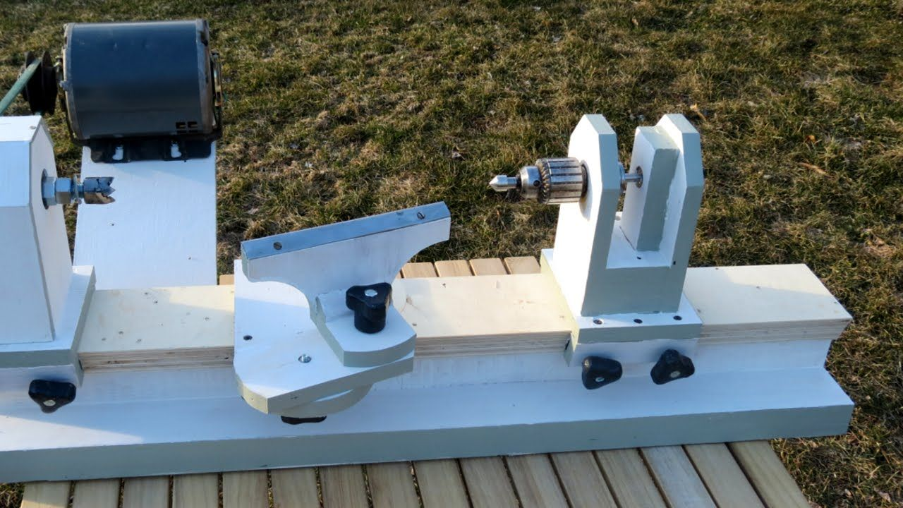 Homemade Lathe Pt. 2 tool rest and tailstock Ahşap