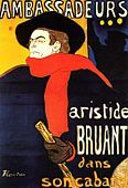 Cartaz - Ambassadeurs, Aristide Bruant 1892